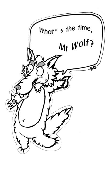 Mr Wolf Coloring Page | what time is it mr wolf worksheets