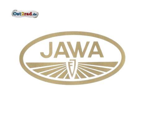 Aufkleber Gold Logo aufkleber jawa logo oval gold gro 223