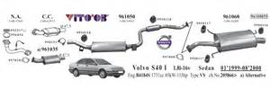 Volvo S40 Exhaust System Diagram Vito03 Exhausts Esystems
