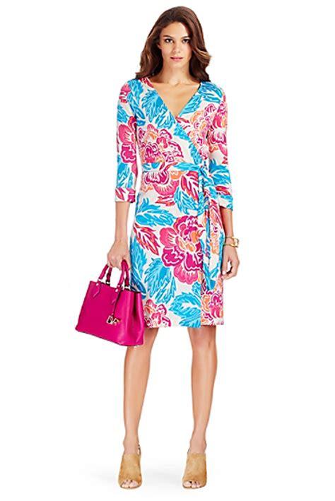 dvf new year wrap dress new julian two silk jersey wrap dress in floral multi