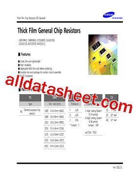 samsung resistor datasheet rc2012f1002cs datasheet pdf samsung semiconductor