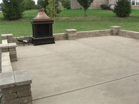 poured concrete patio operation backyard patio laurie jones home