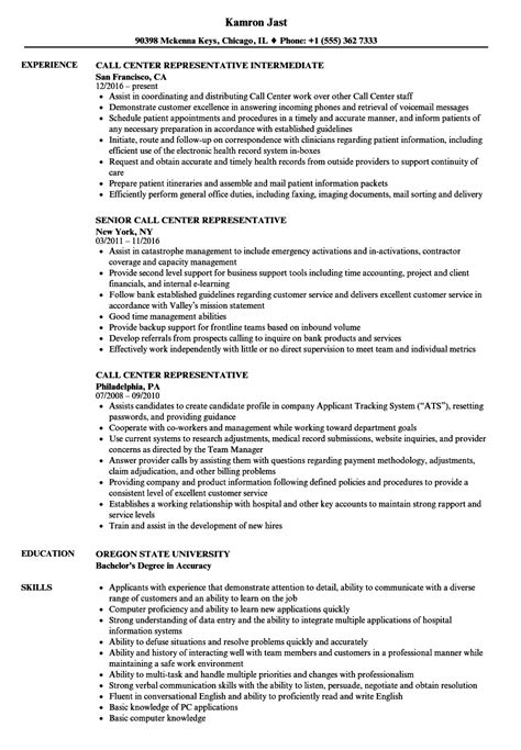 Call Center Representative Resume by Call Center Representative Resume Sles Velvet