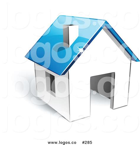 home design 3d logo royalty free vector logo icon of a 3d white home with blue
