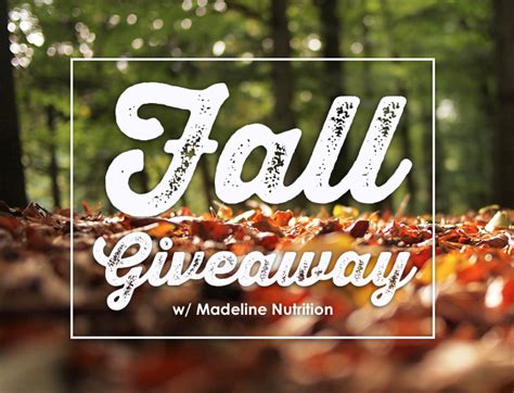 Fall Giveaway - blog madeline nutrition a holistic approach to west coast wellness in santa barbara