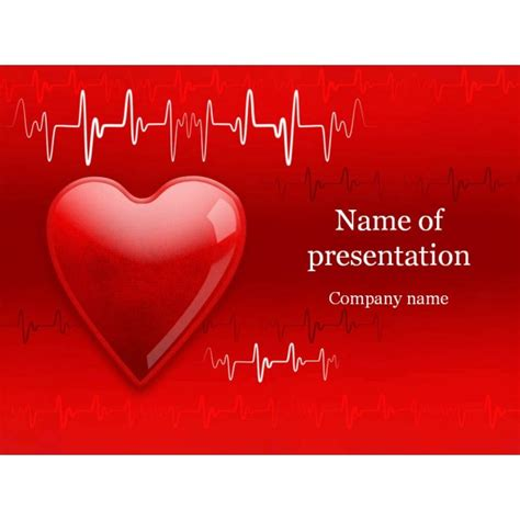 heart cardiogram powerpoint template background for