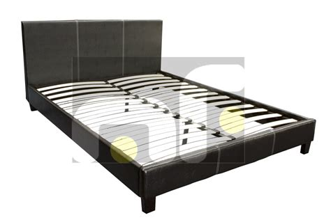 Memory Foam Mattress Bed Frame Size Pu Leather Black Bed Frame Memory Foam Pillow Top Mattress Ebay