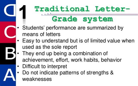 Explanation Of Letter Grades Grading And Reporting