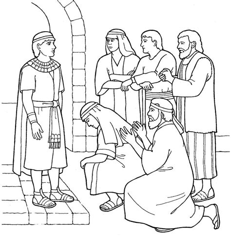 Joseph Forgives His Brothers Primary Coloring Page From