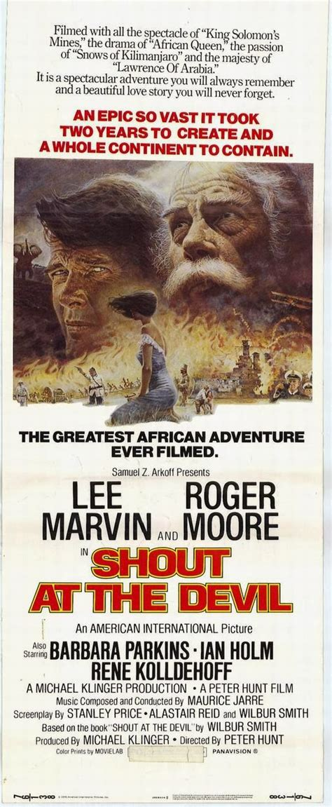 Shout Devil 1976 100 Years Of Movie Posters Roger Moore