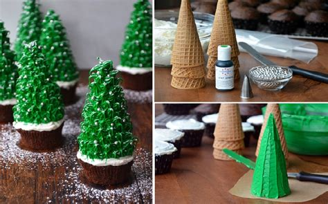 diy christmas tree cupcakes home design garden