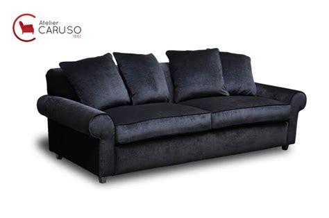 poltrone e sofa aversa divano velluto nero divano imbottito in tessuto a posti