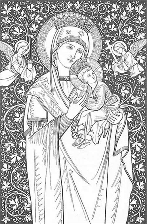 coloring page of virgin mary mother mary coloring pages