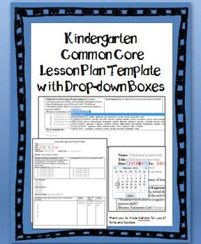 kindergarten lesson plan template for common kindergarten common lesson plan template with drop