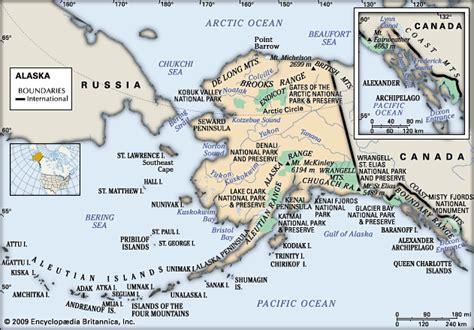 physical map of alaska alaska physical features encyclopedia children
