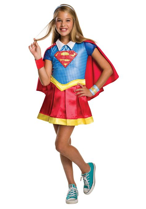 superhero halloween costumes for girls dc superhero girls supergirl deluxe costume