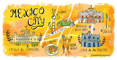 tourist map of mexico city mexico city tourist map on behance