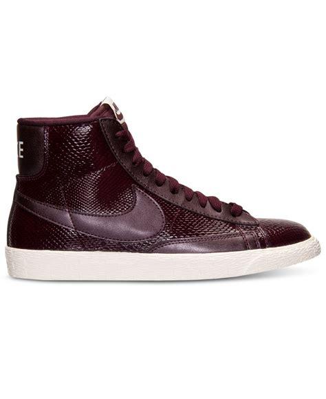 nike mid sneakers nike blazer mid premium sneakers in purple lyst