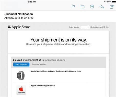 apple order status apple watch order status and shipping update check in