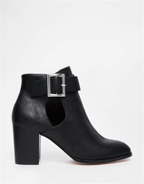asos eversleigh cut out ankle boots in black lyst