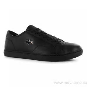 cheap s lacoste showcourt leather trainers black