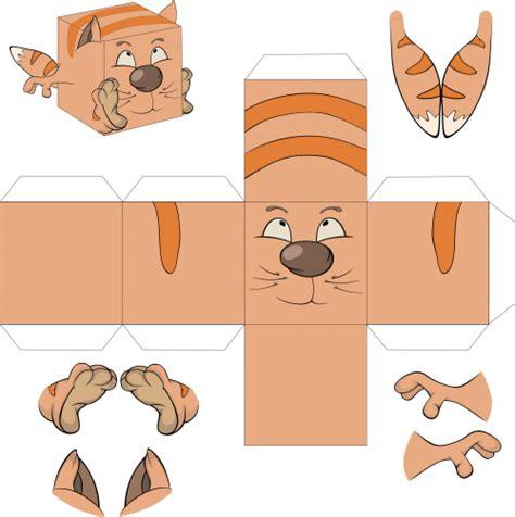 3d Foldable Papercraft Templates - paper crafts foldable box cat kidspressmagazine