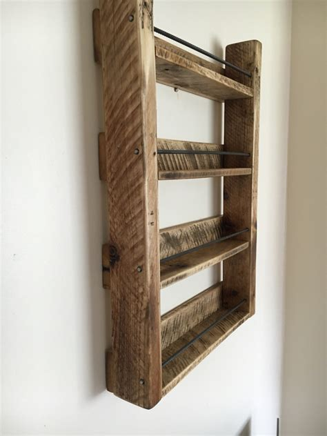 diy spice rack wood spice rack wood spice rack handmade 4 shelf by