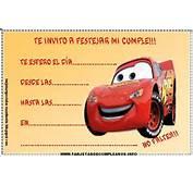 Tarjetas Para Editar De Cumplea&241so Cars  Cumplea&241os