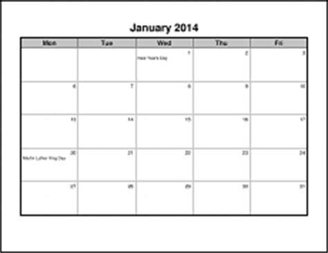 Calendars That Work Monday Through Friday Calendarsthatwork Be Dependable Write It On A