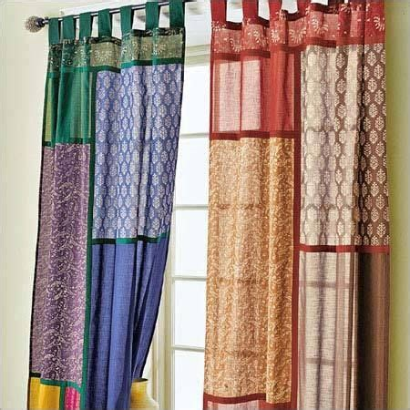 sari patchwork curtains decor