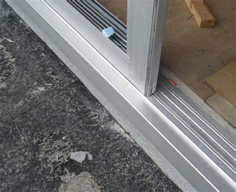Patio Door Sill by Door Weatherproofing Sliding Door Sliding Door
