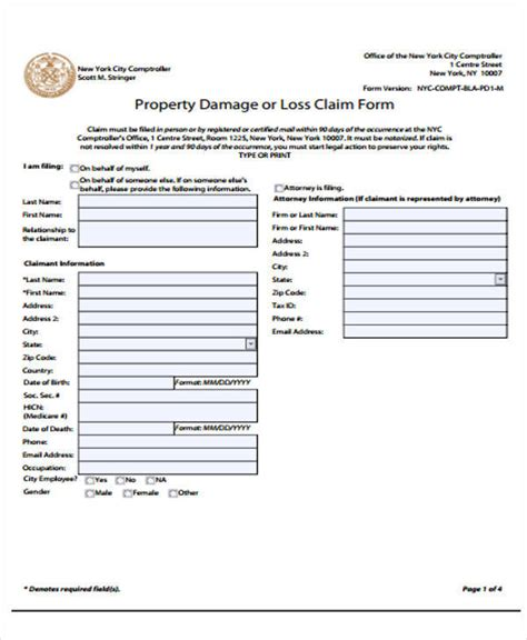 property damage release form template property damage release form printable sle release and