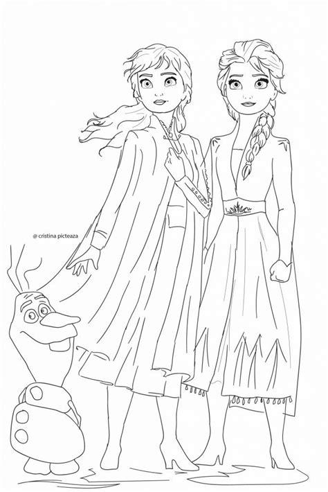 Frozen 2 Coloring Pages | Princess coloring pages, Frozen