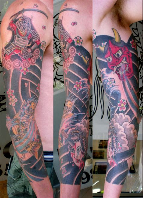 japanese tattoo new style hanya geisha samurai traditional style japanese tattoo
