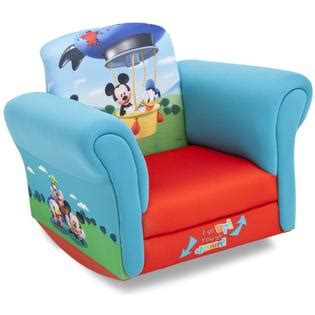 mickey mouse clubhouse rocking chair disney upholstered child s mickey mouse rocking chair