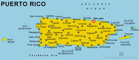 printable map puerto rico free puerto rico map map of puerto rico open source