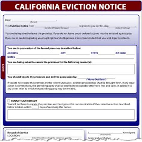 California Eviction Notice Eviction Template California