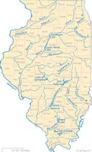 maps of rivers illinois rivers