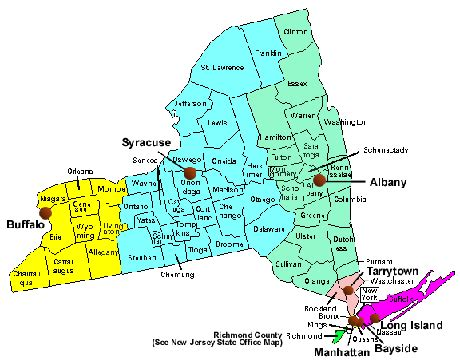 map of ny with cities new york cities