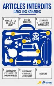 articles interdits et liquides des bagages 224 le