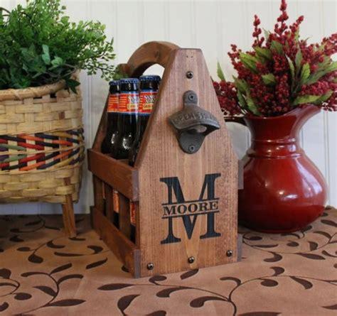 wooden beer tote personalized beer tote handmade beer tote