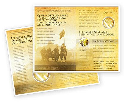 american civil war brochure template design and layout