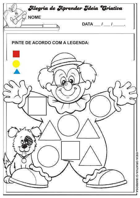 figuras geometricas atividades educação infantil atividade formas geom 233 tricas projeto circo ideia