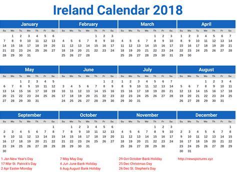 printable calendar ireland 2018 ireland calendar 2018 printcalendar xyz