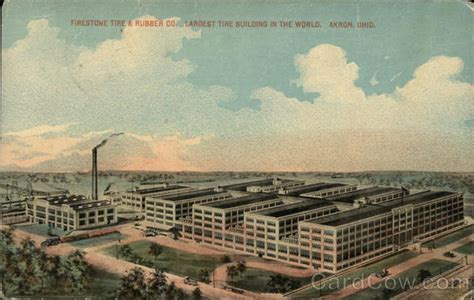 Firestone Tire And Rubber Company Stock by Firestone Tire Rubber Company Akron Oh Postcard