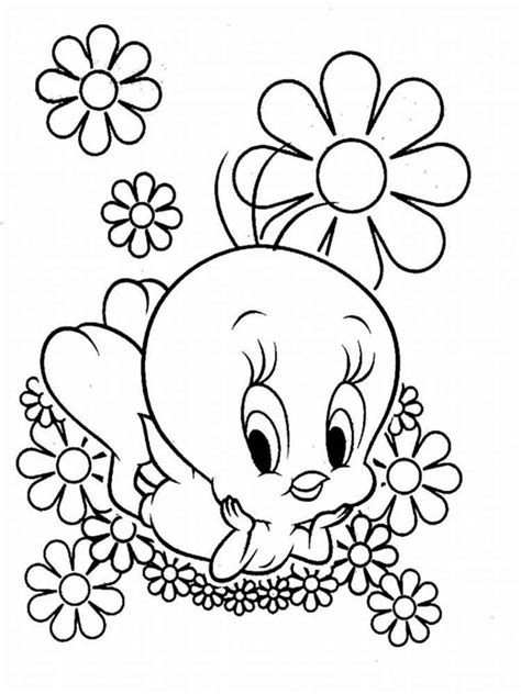 baby looney tunes coloring pages download and print baby