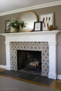 fireplace tile 25 best mosaic fireplace ideas on white