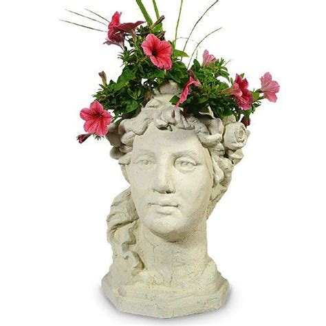 Bust Planter by Garden Goddess Planter 17 Quot Concrete