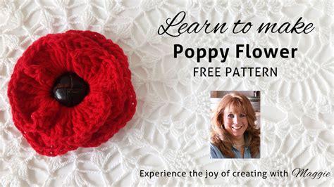 knitting pattern for a poppy flower free crochet pattern poppy flower dancox for