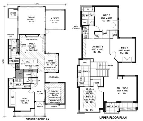 Modern Homes Floor Plans Top Modern House Floor Plans Cottage House Plans